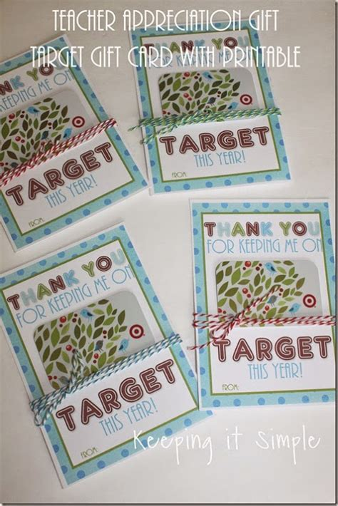 Target Gift Card Teacher Appreciation - keeping it simple teacher appreciation gift idea target gift card with printable