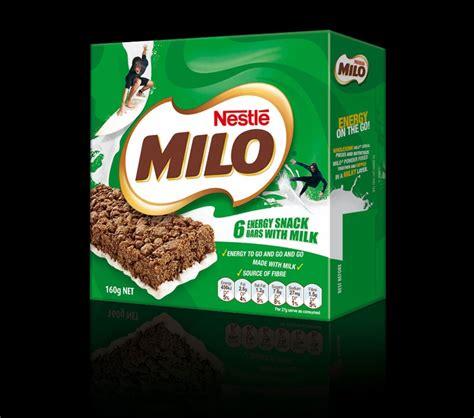 Milo Energy Bar Pack milo snack bars packaging redesign kelso