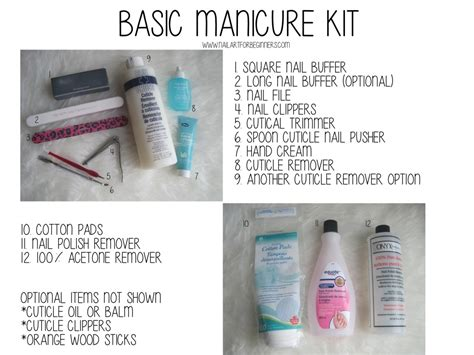 Manicure Kit basic manicure kit nail for beginners