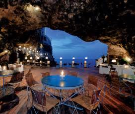 Cave Restaurant Side Of A Cliff Italy by Easyjet Traveller Inflight Magazine Of Easyjet