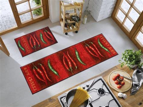 grand tapis cuisine tapis chili d 233 cor piments wash by kleen tex gallazzini arts de la table et de la
