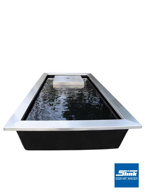 Gartenbecken Edelstahl ideen mit wasser gartenbrunnen wasserbecken