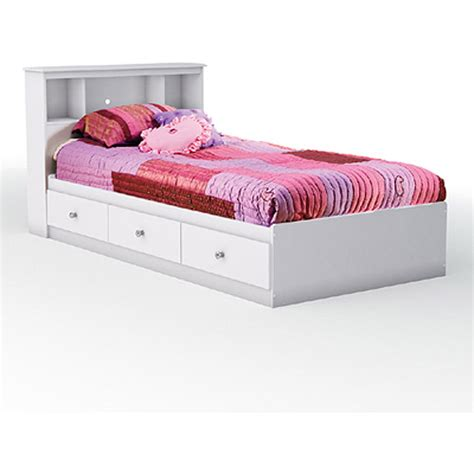 south shore mates bed bookcase headboard