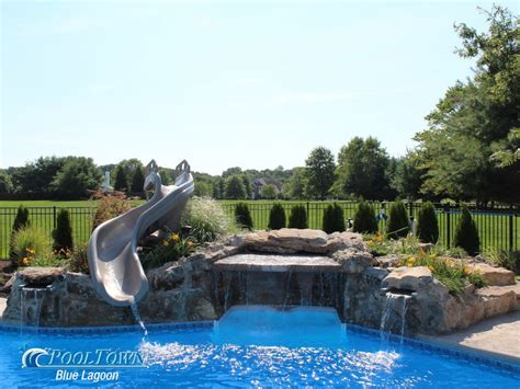 inground pool with waterfall pin by lyoness rose on home swimming pools pinterest