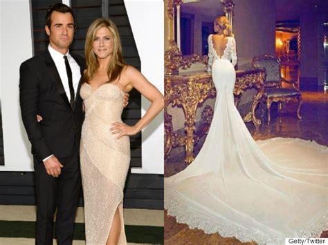 hochzeitskleid jennifer aniston jennifer aniston wedding dress photo revealed to be fake