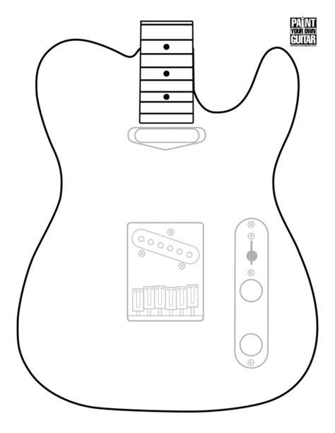telecaster shape template pdf telecaster guitar forum