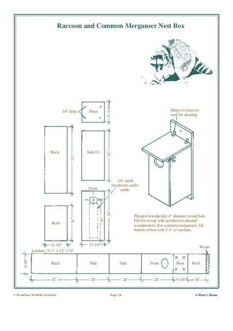 Barn Owl Box Plans Building Nesting Boxes And Nesting Platforms