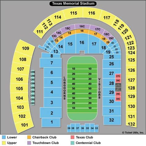 texas stadium map dkr memorial stadium tickets football seating chart ticketcity