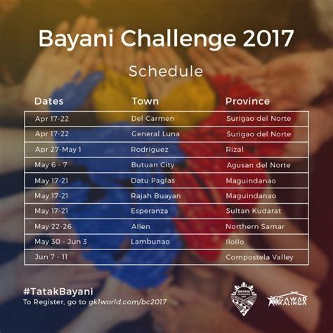 bayani challenge gawad kalinga bayani challenge 2017 a meaningful way of