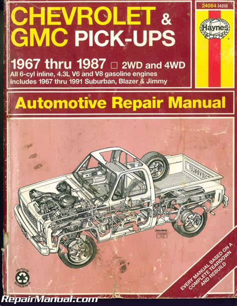 used haynes chevrolet gmc pickups 1967 1987 auto repair manual