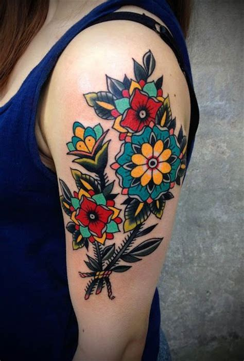 25 best ideas about colorful flower tattoo on pinterest