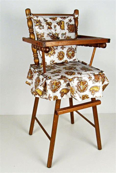 retro steelcraft high chair vintage miniature wood doll high chair high chairs