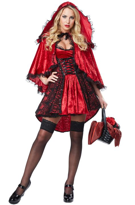 little red riding hood costumes adult kids red riding deluxe red riding hood adult costume purecostumes com