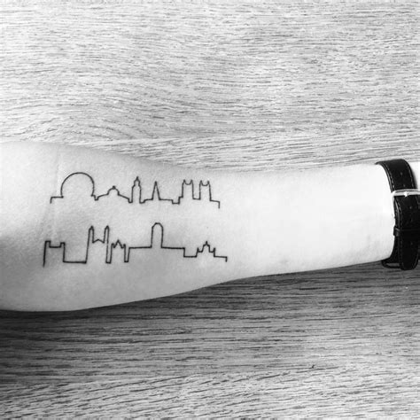 London Tattoo Minimalist | my minimalist skyline tattoo of cambridge london