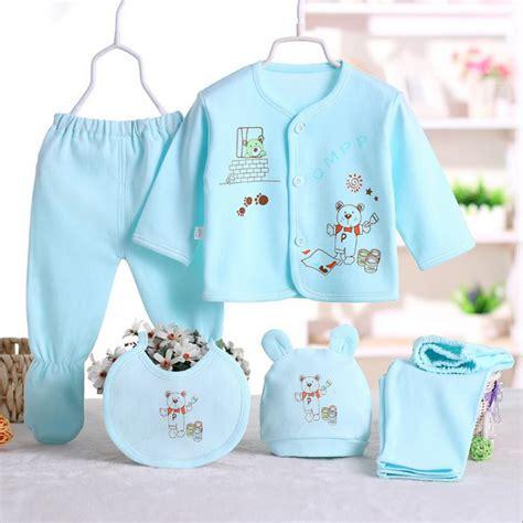 3 M Boy 100 cotton newborn baby 0 3m clothing set brand baby boy clothes 5pcs