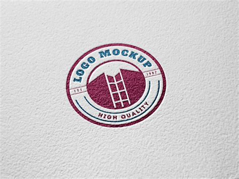 logo mockup psd template paper engraved logo mockup