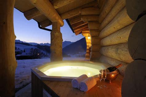blockhütte im schnee mieten blockhaus woodridge werfenweng trips4kids