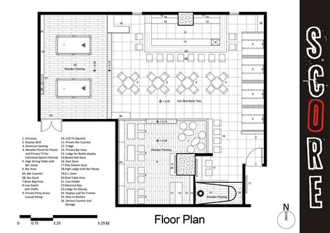 sports bar and grill floor plans project bar design