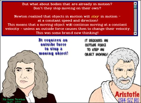 biography of aristotle and galileo newton s laws of motion