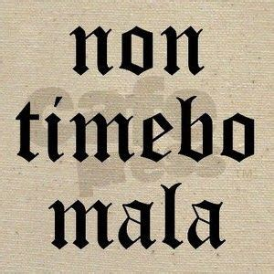 non timebo mala tattoo non timebo mala i will fear no evil supernatural