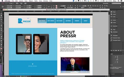 Web Design Layout In Indesign | building a web page from an indesign file ding digital