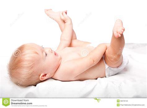 laying on back infant laying on back stock images image 32576144