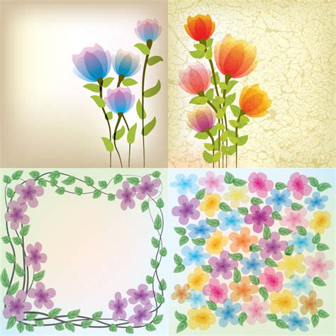 flowers for card abstract floral cards vector 2 vector graphics
