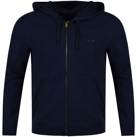 Hoodie Zipper Theater Logo Navy Xxxv Cloth michael kors michael kors navy large logo zip up hoodie from brother2brother uk