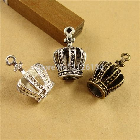 bulk charms for jewelry a1328 wholesale tibetan silver plate crown charms jewelry jpg