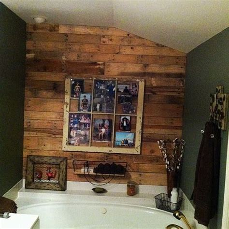 Pallet Wall Bathroom Using Pallets For Bathroom Pallet Ideas Recycled Upcycled Pallets Furniture Projects