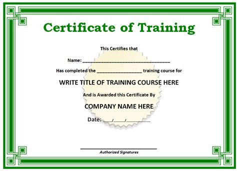 free template for certificates free printable certificates templates word sle