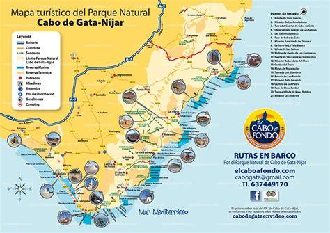 mapa parque cabo de gata mapa cabo de gata el cabo a fondo