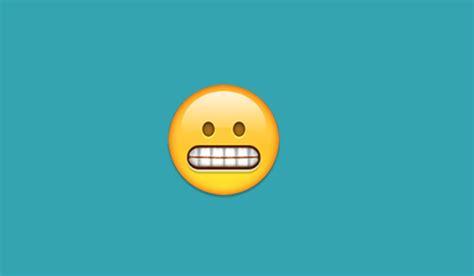 emoji eek what does the bared teeth emoji mean on iphone and android
