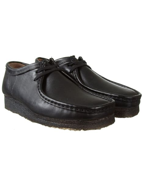 wallabee shoes for clarks originals wallabee shoe black leather casual