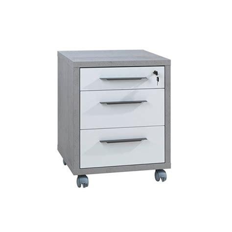 cassettiere su ruote cassettiera per ufficio su ruote grigio cemento con