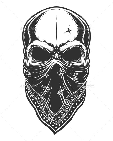 skull bandana tattoo designs illustration of skull in bandana on by imogi