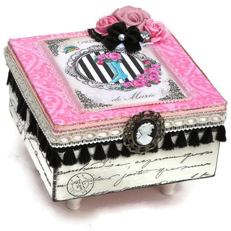 Decorating Ideas For Jewelry Boxes Jewelry Box Keepsake Box Pink And Black Decor