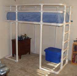Loft Bed Diy Loft Bed Made From Pvc Water Pipe