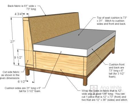 free couch plans ana white build a storage sofa free and easy diy