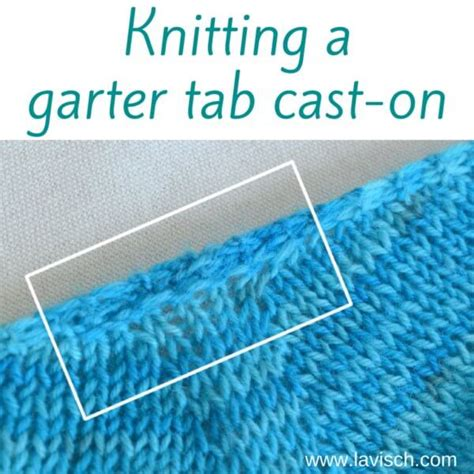 what is garter stitch in knitting terms garter tab cast on tutorial la visch designs