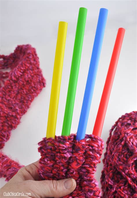 how to knit with straws crafts
