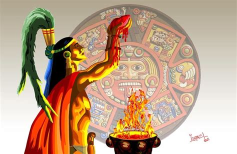 imagenes delos aztecas sacrificio azteca by chitaury on deviantart