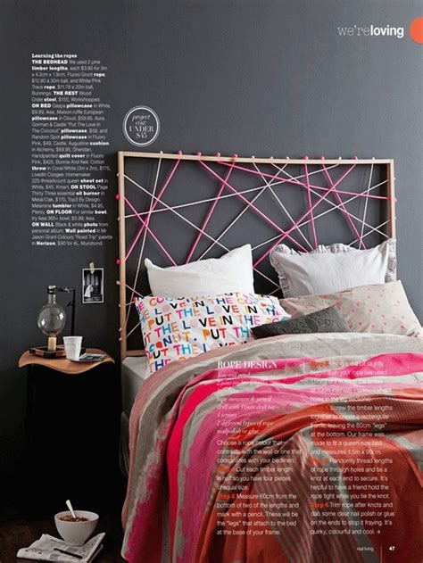rope headboard refresheddesigns more diy headboard ideas
