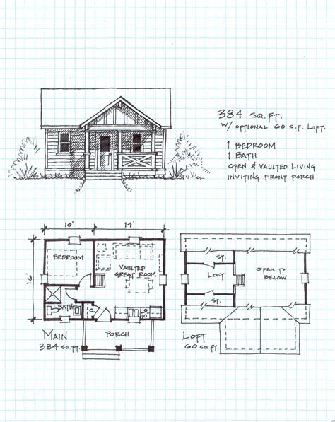 small cabin plans log floor cottage plan home free