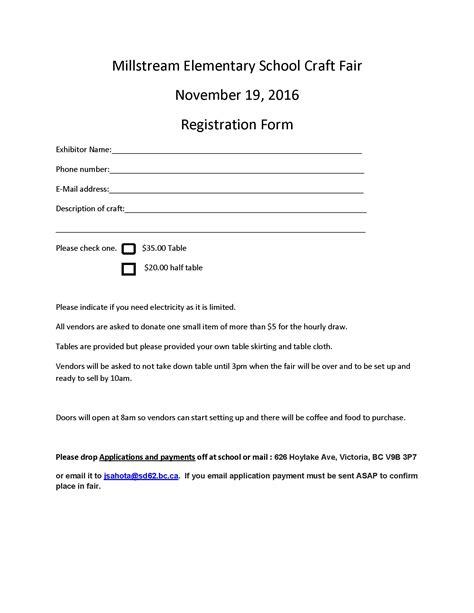Application Letter Fair Millstream Elementary School