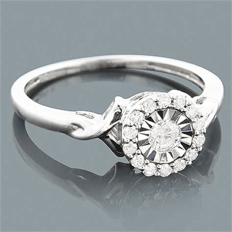 cheap engagement ring 10k gold 1 carat look