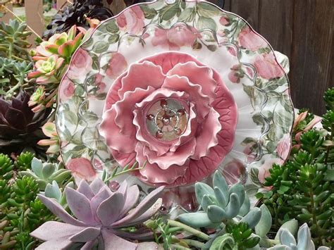 plate flowers garden top 25 best glass garden flowers ideas on