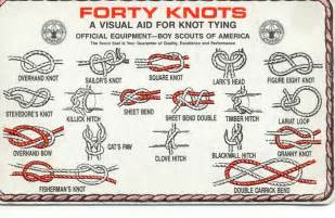 scouts traditional hitching knot clove hitching