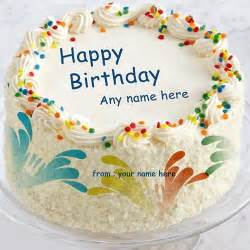 birthday card with name generator write name on happy birthday cakes and cards wishes