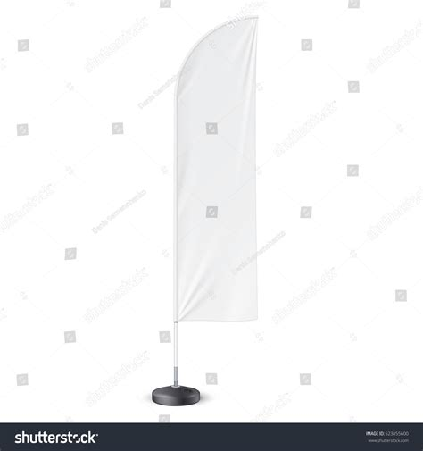 Outdoor Feather Flag Ground Fillable Water Stock Vector 523855600 Shutterstock Feather Flag Design Template